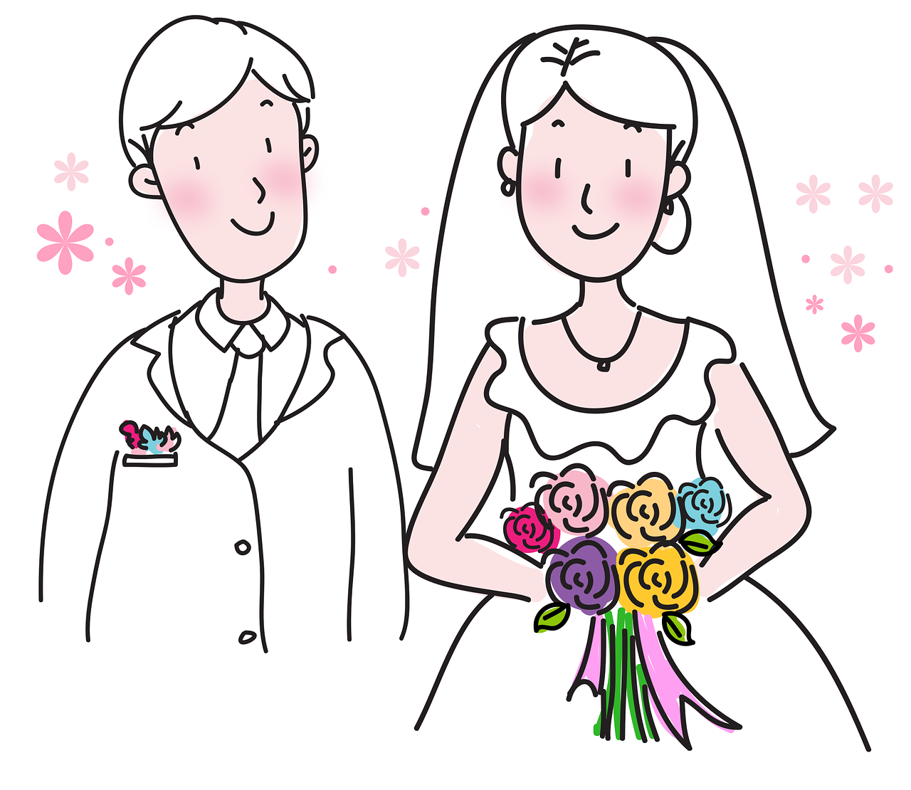 ציור של זוג