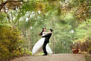 זוג ביום החתונה